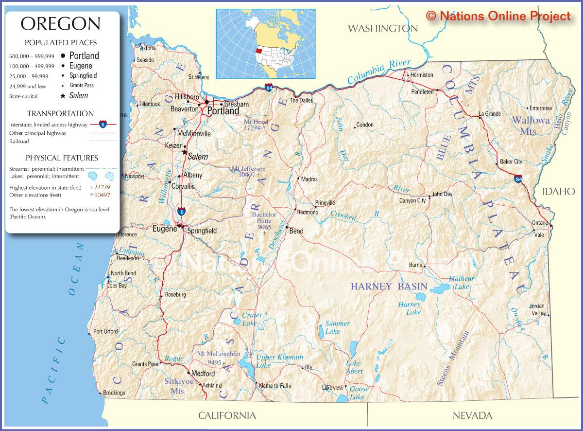 Oregon City Map Images